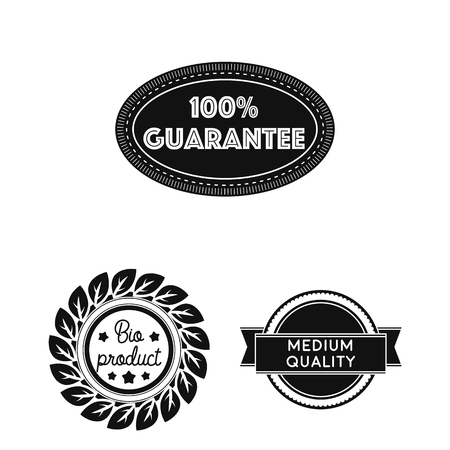 Different label black icons in set collection for design. Index and brand vector symbol stock  illustration.