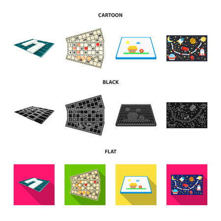 Board game cartoon,black,flat icons in set collection for design. Game and entertainment vector symbol stock web illustration.