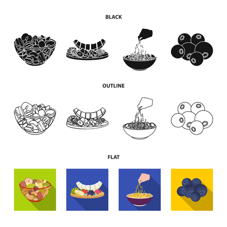 Assorted nuts, fruits and other food. Food set collection icons in cartoon style vector symbol stock illustration web.