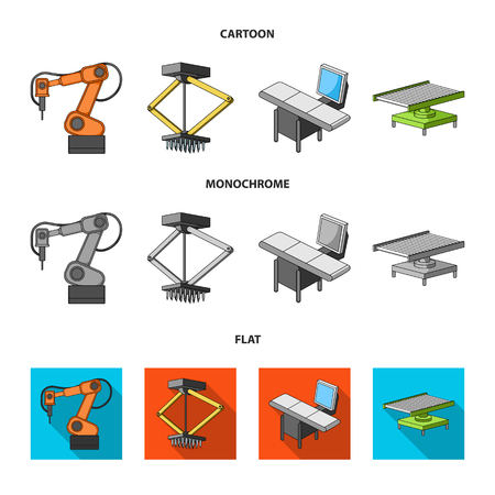 Automotive industry and other web icon in cartoon,flat,monochrome style.New technologies icons in set collection.