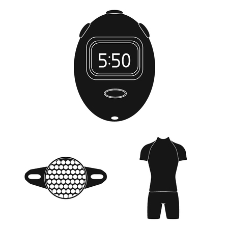 Bicycle outfit black icons in set collection for design. Bicycle and tool vector symbol stock web illustration.