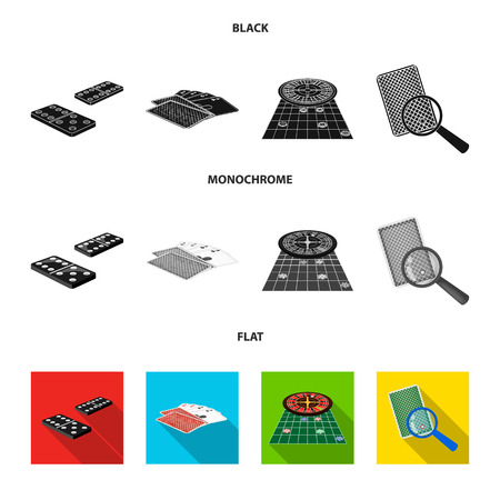 Excitement, casino, game and other web icon in black, flat, monochrome style Magnifier, cheating, entertainment, icons in set collection.