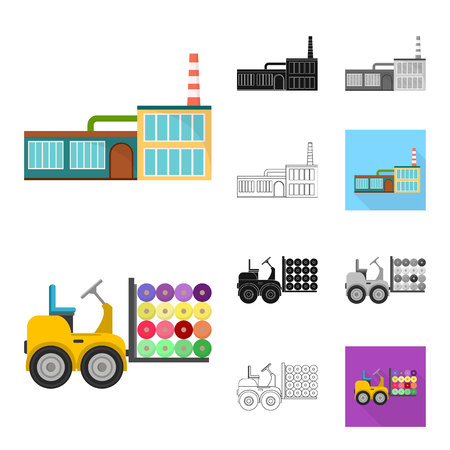 Textile industry cartoon,black,flat,monochrome,outline icons in set collection for design.Textile equipment and fabrics vector symbol stock illustration. Vector Illustration