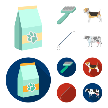 Dog, cow, cattle, pet .Vet Clinic set collection icons in cartoon,flat style vector symbol stock illustration web.