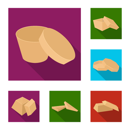 Different boxes flat icons in set collection for design.Packing box vector symbol stock web illustration.