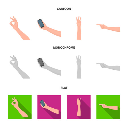 Sign Language cartoon,flat,monochrome icons in set collection for design.Emotional part of communication bitmap symbol stock web illustration.