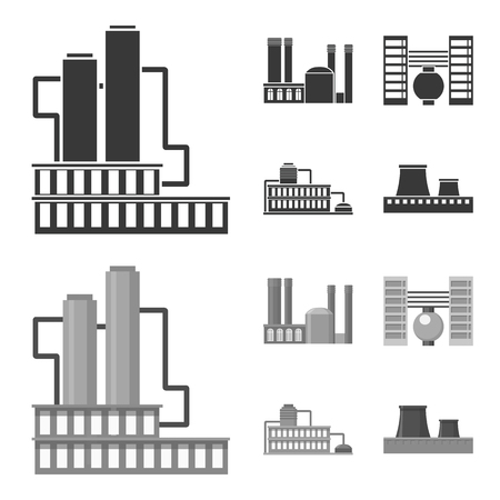 Industry, production.Factory set collection icons in black,monochrome style vector symbol stock illustration .