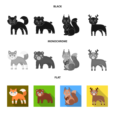 Zoo, nature, reserve and other web icon in black, flat, monochrome style.Artiodactyl, nature, ecology, icons in set collection. Stock Photo