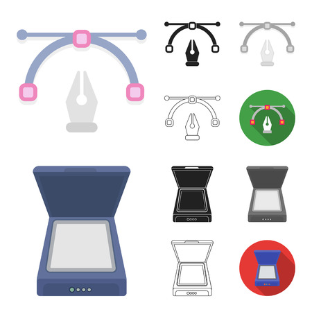 Typographical products cartoon,black,flat,monochrome,outline icons in set collection for design. Printing and equipment bitmap symbol stock web illustration.