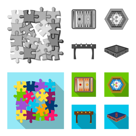 Board game monochrome,flat icons in set collection for design. Game and entertainment vector symbol stock web illustration.