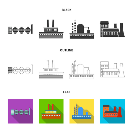 Industry, production.Factory set collection icons in cartoon style vector symbol stock illustration web. Illustration