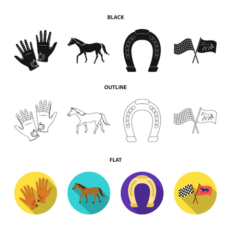 Race, track, horse, animal .Hippodrome and horse set collection icons in cartoon style vector symbol stock illustration web.