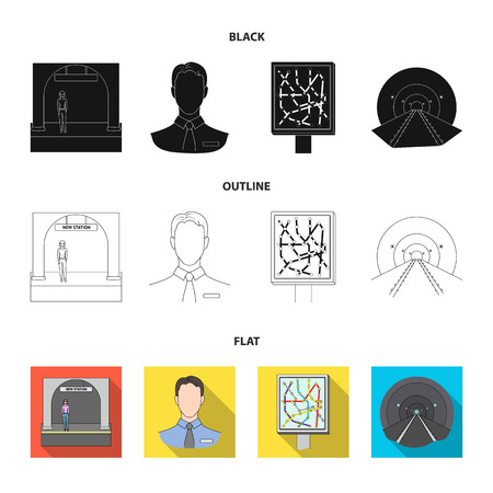Mechanisms, electric transport and other web icon in cartoon style.Transport, public, equipment icons in set collection. Illustration