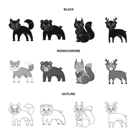 Zoo, nature, reserve and other web icon in black,monochrome,outline style.Artiodactyl, nature, ecology, icons in set collection.