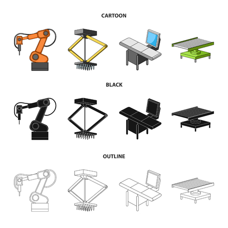 Automotive industry and other web icon in cartoon,black,outline style.New technologies icons in set collection.