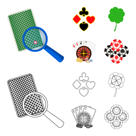 Excitement, casino, game and other web icon in cartoon,outline style. Cheating, entertainment, recreation, icons in set collection. Stock fotó