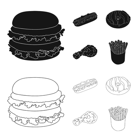 Fast ,food, meal, and other web icon in black,outline style.Hamburger, bun, flour, icons in set collection.