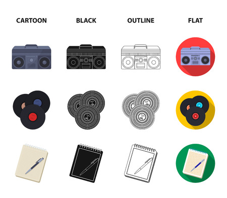 Hipster, fashion, style, subculture .Hipster style set collection icons in cartoon,black,outline,flat style bitmap symbol stock illustration web.