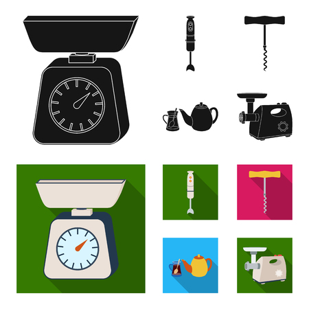 Kitchen equipment black,flat icons in set collection for design. Kitchen and accessories vector symbol stock web illustration.