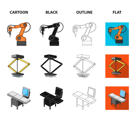 Automotive industry and other icon in cartoon,black,outline,flat style.New technologies icons in set collection.