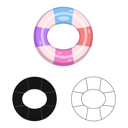 Ilustración de vector de símbolo de piscina y natación. Colección de símbolo de stock de piscina y actividad para web.