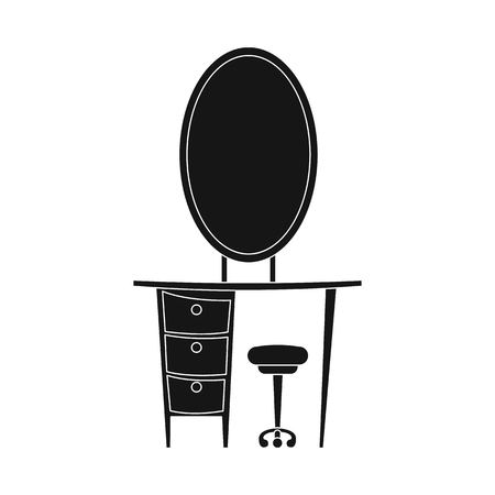 Vector illustration of furniture and apartment icon. Collection of furniture and home stock symbol for web.