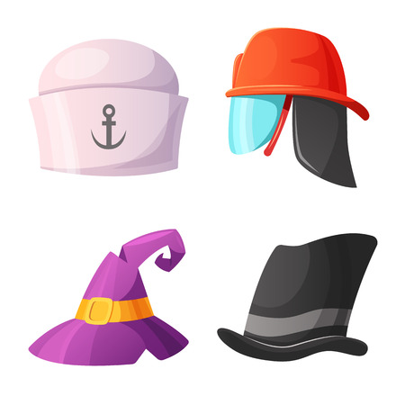 Vector illustration of headwear and cap logo. Collection of headwear and accessory stock vector illustration.