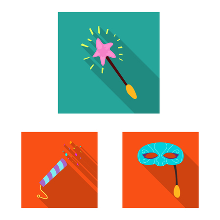Vector illustration of party and birthday icon. Set of party and celebration stock vector illustration. Vector Illustration