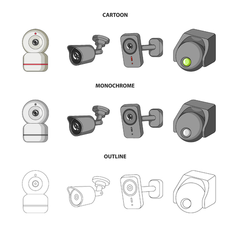 Vector design of cctv and camera logo. Set of cctv and system stock vector illustration. Illustration