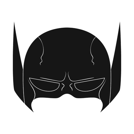 Isolated object of hero and mask logo. Set of hero and superhero stock symbol for web.