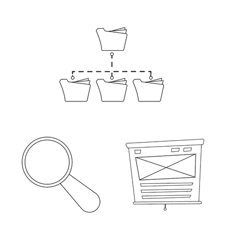 Isolated object of education and learning icon. Set of education and school stock symbol for web. Illustration
