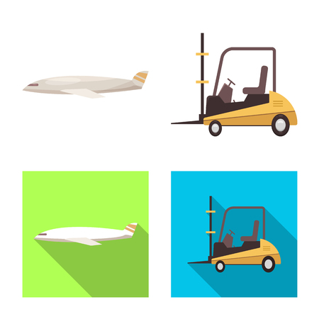 Isolated object of goods and cargo icon. Collection of goods and warehouse stock vector illustration. Vektorové ilustrace