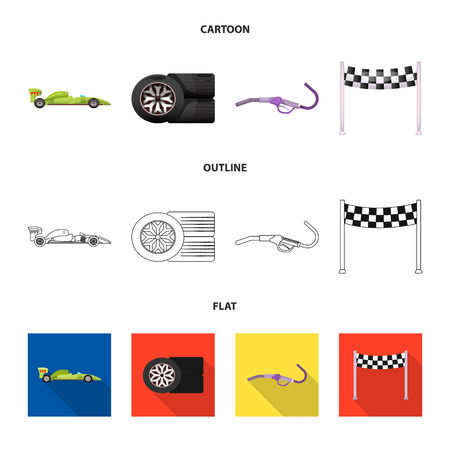 Vector design of car and rally logo. Set of car and race vector icon for stock.