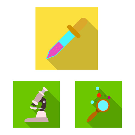 Isolated object of genetic and plant icon. Collection of genetic and biotechnology stock symbol for web. Ilustrace