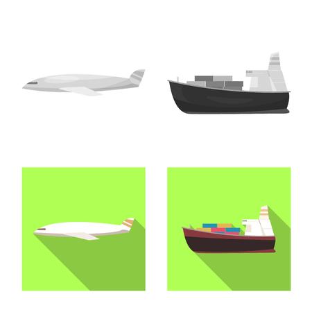 Vector illustration of goods and cargo symbol. Collection of goods and warehouse vector icon for stock. Vektorové ilustrace