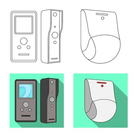 Vector illustration of cctv and camera logo. Collection of cctv and system stock vector illustration. Illustration