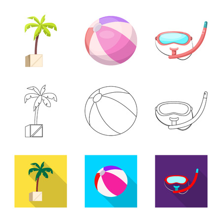Isolated object of pool and swimming icon. Collection of pool and activity vector icon for stock.