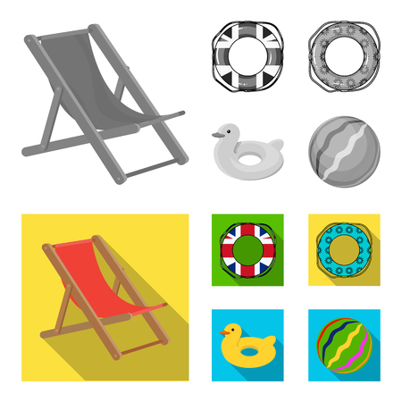 Multicolored swimming circle monochrome,flat icons in set collection for design. Different lifebuoys vector symbol stock web illustration.