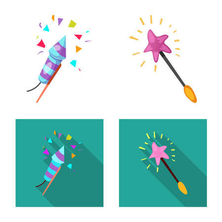 Isolated object of party and birthday symbol. Set of party and celebration stock symbol for web.