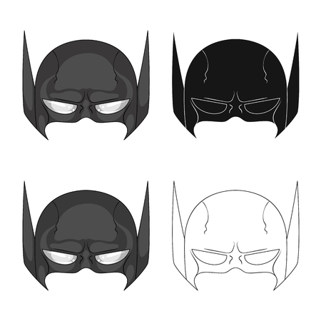 Isolated object of hero and mask symbol. Collection of hero and superhero vector icon for stock.