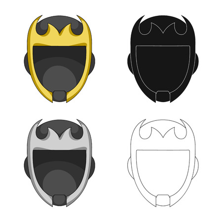 Isolated object of hero and mask sign. Collection of hero and superhero vector icon for stock. Illustration