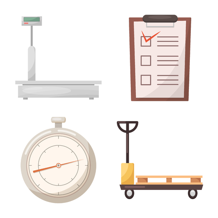 Vector design of goods and cargo icon. Set of goods and warehouse stock vector illustration.