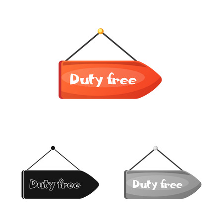 Vector design of airport and airplane sign. Set of airport and plane vector icon for stock.