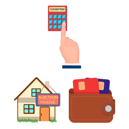 E-commerce and business cartoon icons in set collection for design. Buying and selling vector symbol stock  illustration.