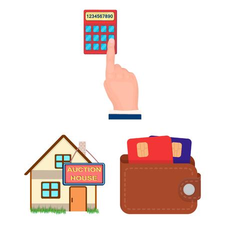 Icônes de dessin animé de commerce électronique et d'affaires dans la collection de jeux pour la conception. Achat et vente de stock illustration de vecteur symbole.