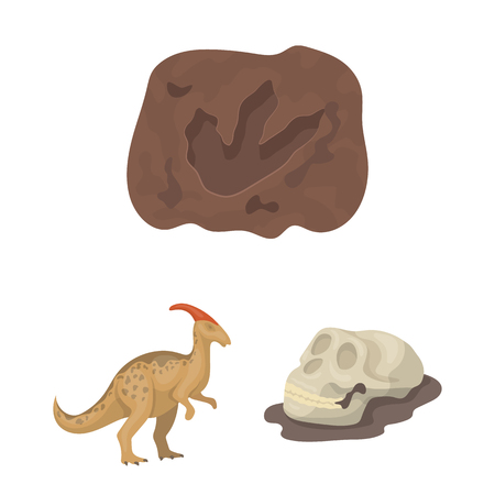 Différentes icônes de dessin animé de dinosaures dans la collection de jeu pour la conception. Illustration stock du symbole vecteur animal préhistorique. Vecteurs