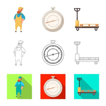 Conception de vecteur d'icône de marchandises et de fret. Collection de marchandises et illustration vectorielle stock entrepôt. Vecteurs