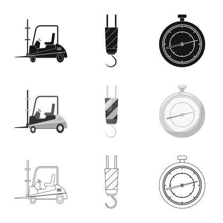 Vector illustration of goods and cargo icon. Collection of goods and warehouse stock vector illustration. Ilustração