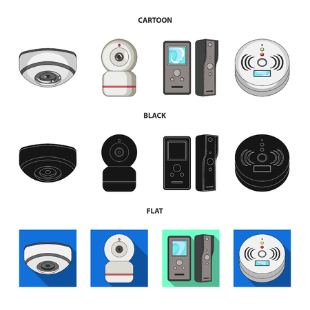 Isolated object of cctv and camera icon. Set of cctv and system vector icon for stock.