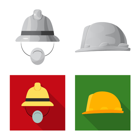 Vector design of headgear and cap icon. Collection of headgear and accessory vector icon for stock. Ilustrace